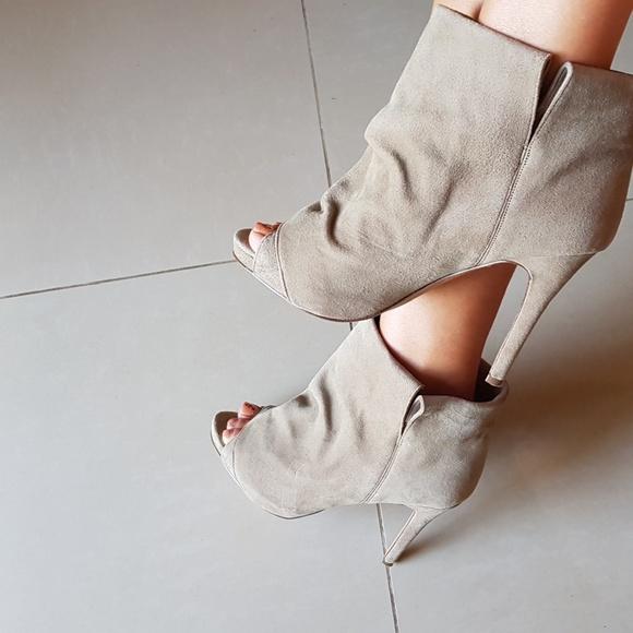 2c72a3b57 Supertrash Shoes | Suede Peep Toe Booties | Poshmark